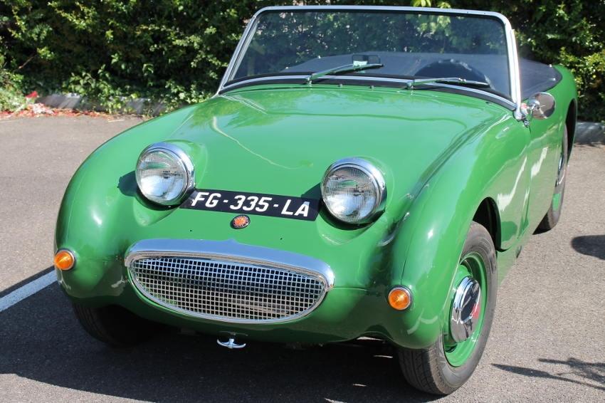 La « grenouille » anglaise circule dans l'Yonne : une Austin-Healey 1959 qui coasse de plaisir !