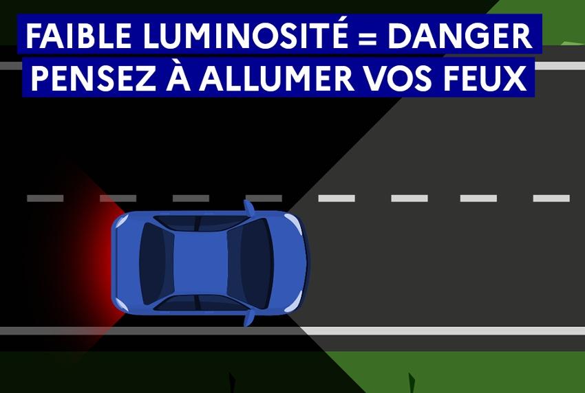 La Sécurité Routière lance la campagne « Voir et être vu » : pour ne pas être un danger ambulant la nuit…