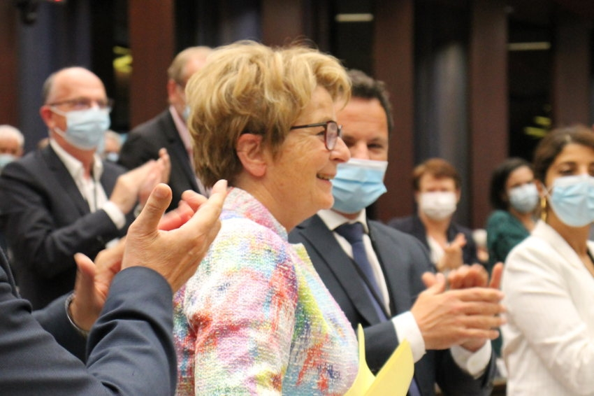 Marie-Guite DUFAY retrouve la présidence de la Région jusqu'en mars 2028 : pas de surprise mais de l'émotion !