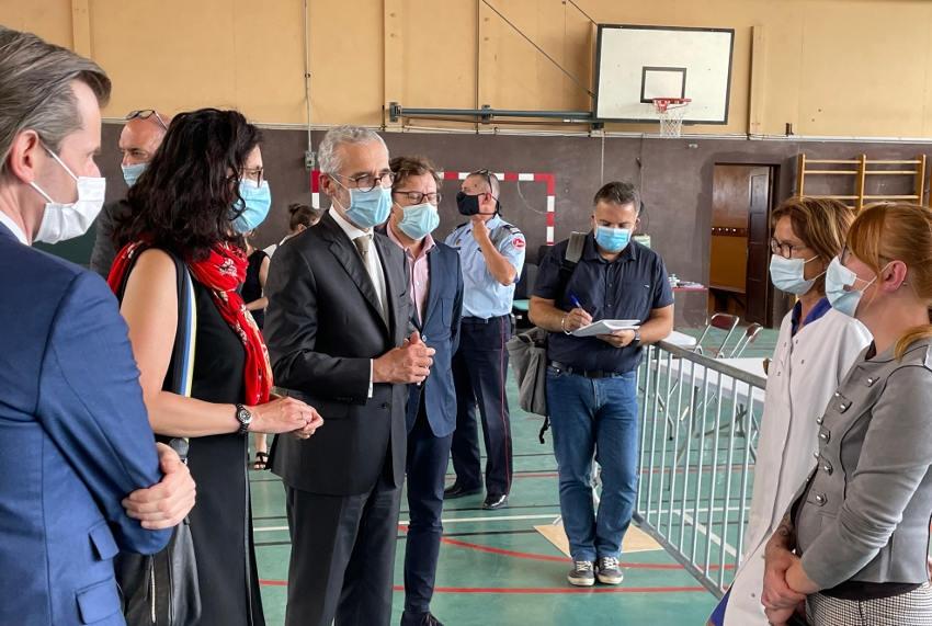 Vaccination : avec 900 injections/jour, le gymnase de l'ancien collège Bienvenu-Martin se substitue à AUXERREXPO