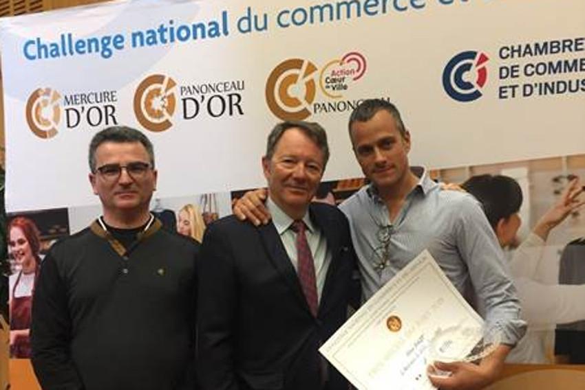 Le Sénonais Steve BAGOT, auréolé d'un « Mercure d'Or », triomphe au Challenge du Commerce et des Services…