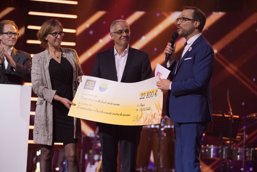 L'association « Tout le monde contre le cancer » bénéficie de la générosité de l'entreprise EUROGERM
