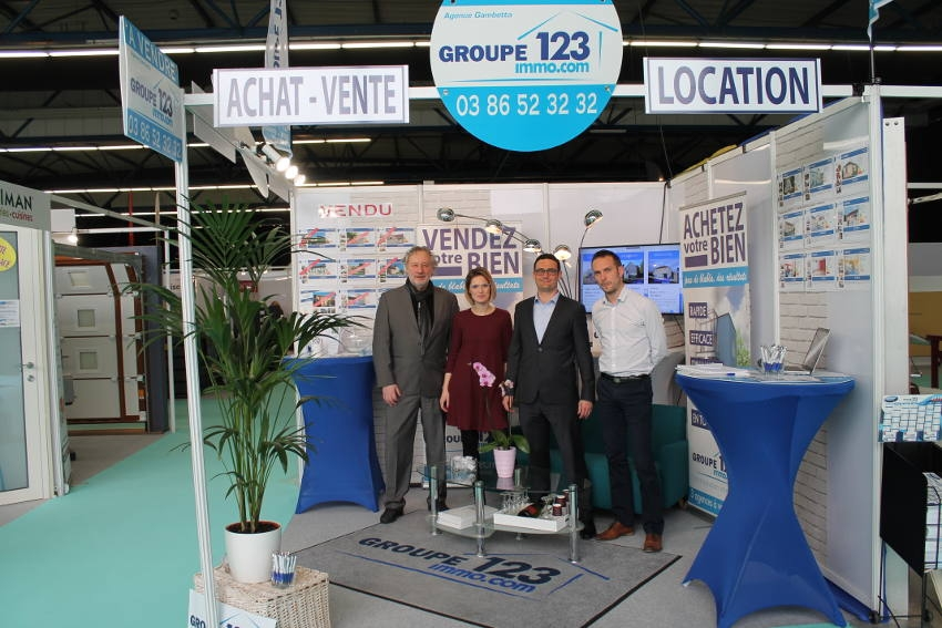 Groupe 123 IMMOBILIER : une première sur un salon pour accroître sa visibilité…