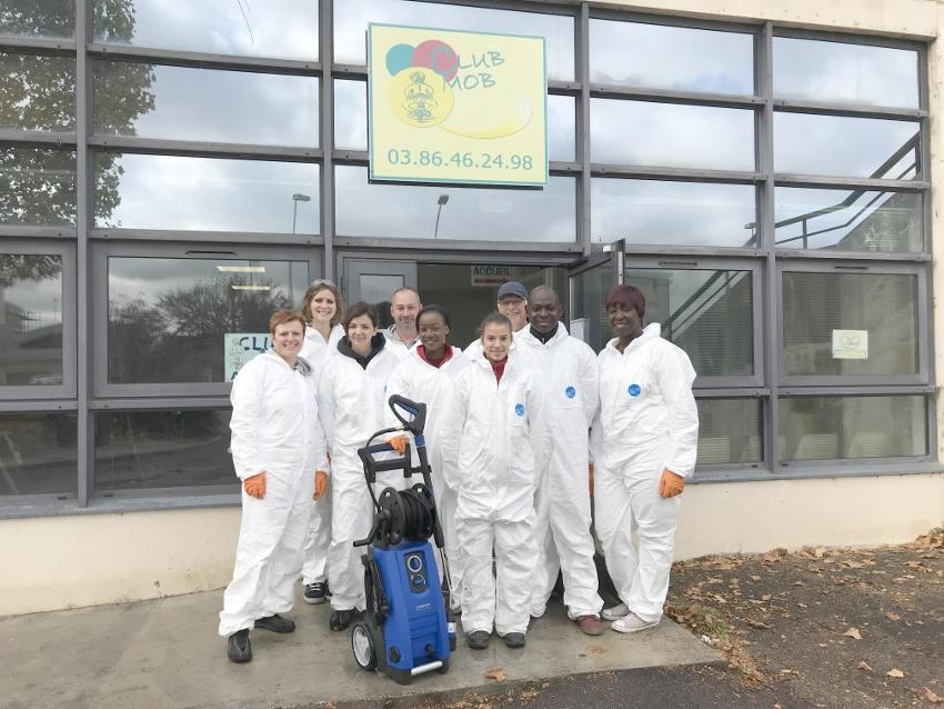 Les collaborateurs du groupe BERNER donnent du cœur à l'ouvrage en soutenant le Club MOB d'Auxerre