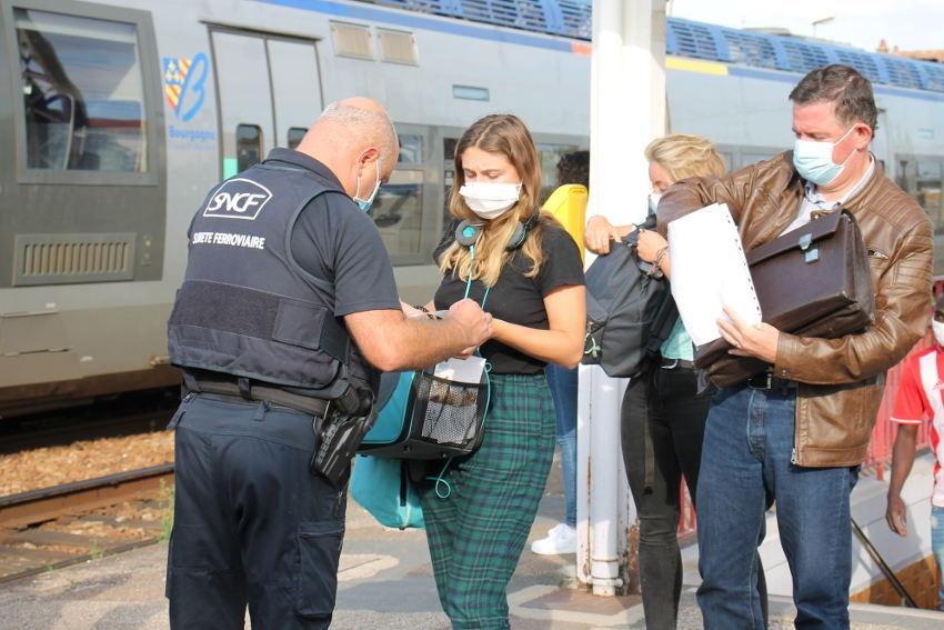 Sécurité : les infractions au port du masque sont très marginales dans les gares SNCF…