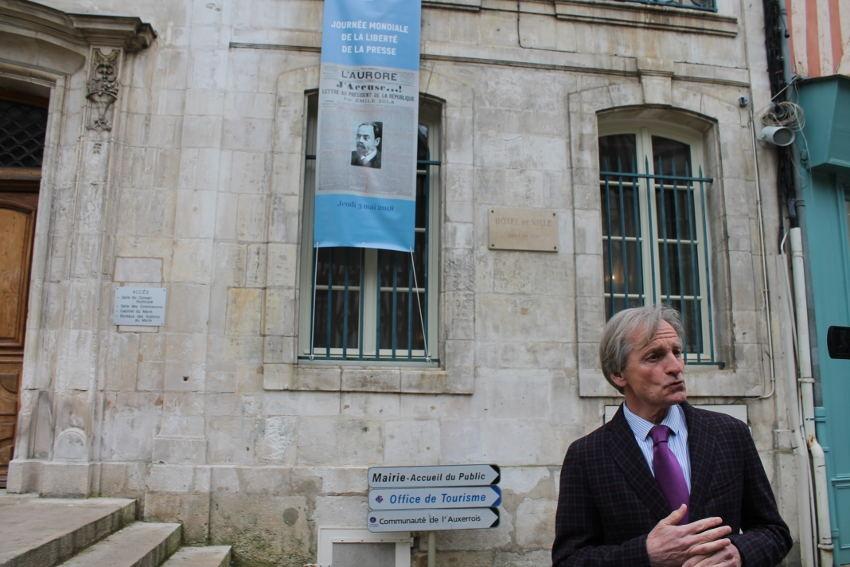 La liberté de la presse et ses symboles défendus par la Ville d'Auxerre…