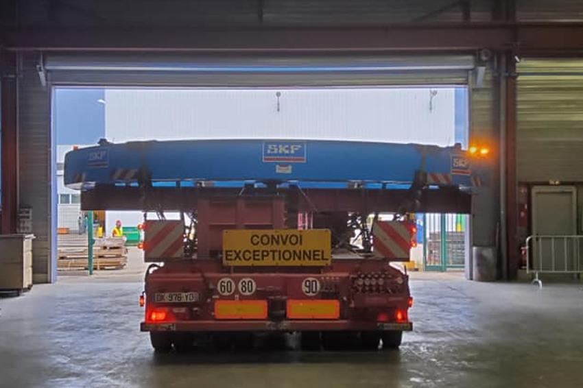 Une couronne d'orientation de 60 tonnes part pour la Chine : SKF réalise l'impossible malgré le confinement !