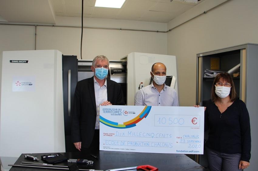 Sa fondation soutient les métiers de l'usinage : le groupe EDF finance la digitalisation de l'Ecole de Production