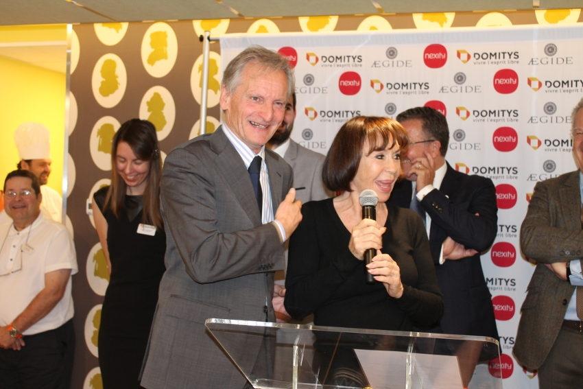 Danièle EVENOU : du tonus à revendre à l'inauguration de la résidence « Terres de Bourgogne » !