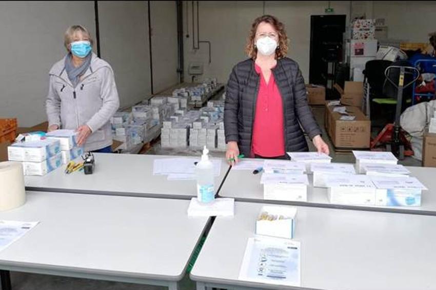 152 entreprises du Sénonais perçoivent leurs masques jetables grâce à un partenariat actif !