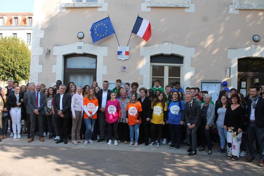 Un vent d'ouverture et de culture européenne souffle sur les  apprenants du lycée des métiers d'art d'Auxerre