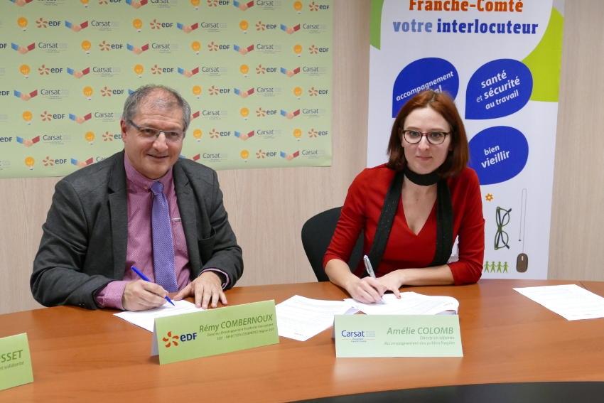 EDF Région Est et la Carsat Bourgogne Franche-Comté initient des mesures altruistes en faveur des ménages fragilisés…