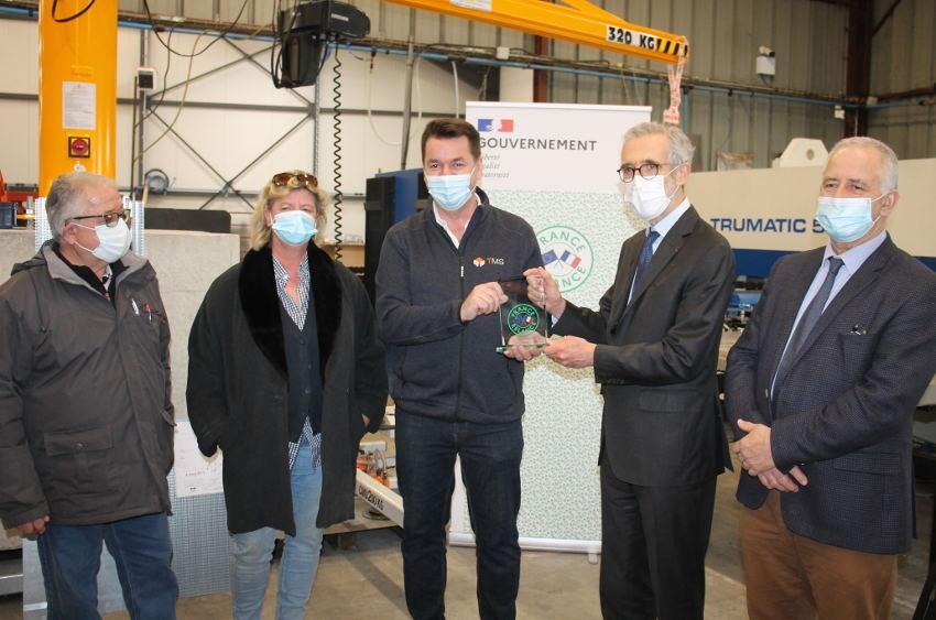 Distinction : l'industriel TMS premier bénéficiaire du trophée « France Relance » dans l'Yonne